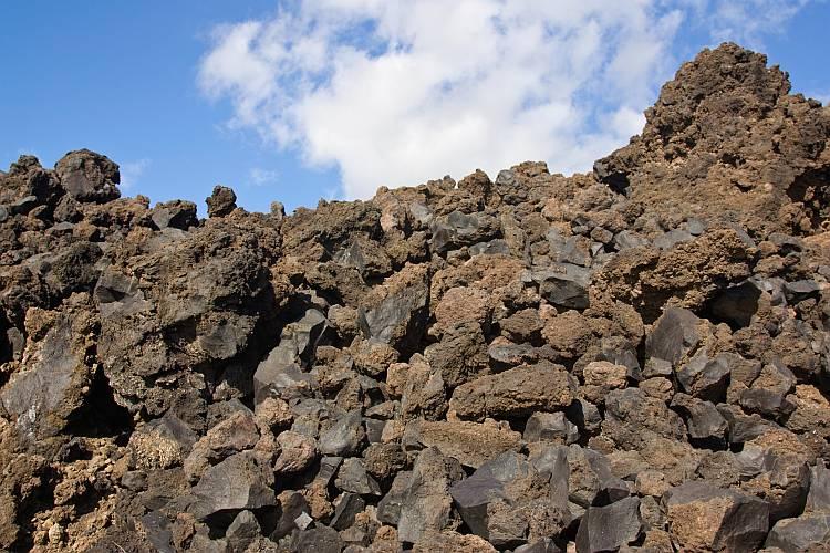 Blocky lava flow