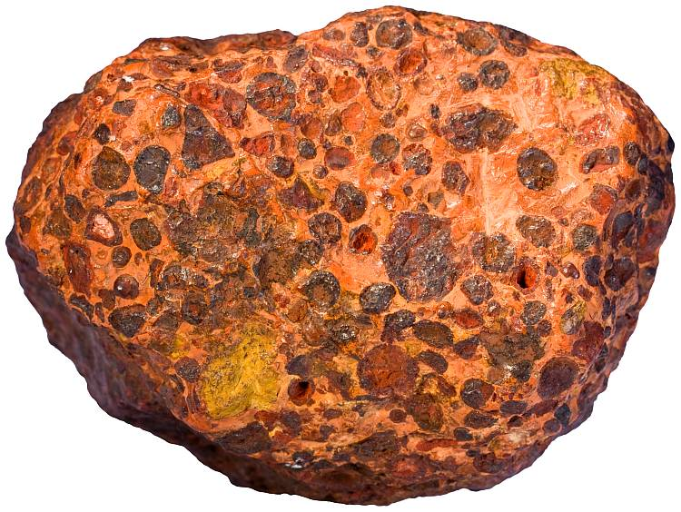 Bauxite rock sample