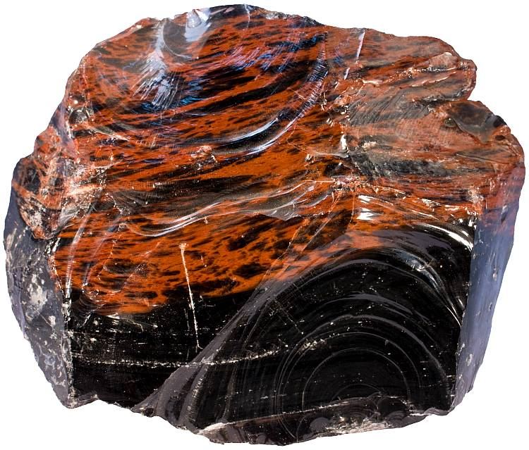 Red Obsidian Stone : Rock types