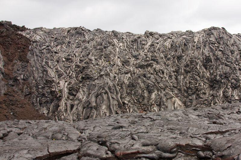 Pahoehoe-type lava flow in Hawaii