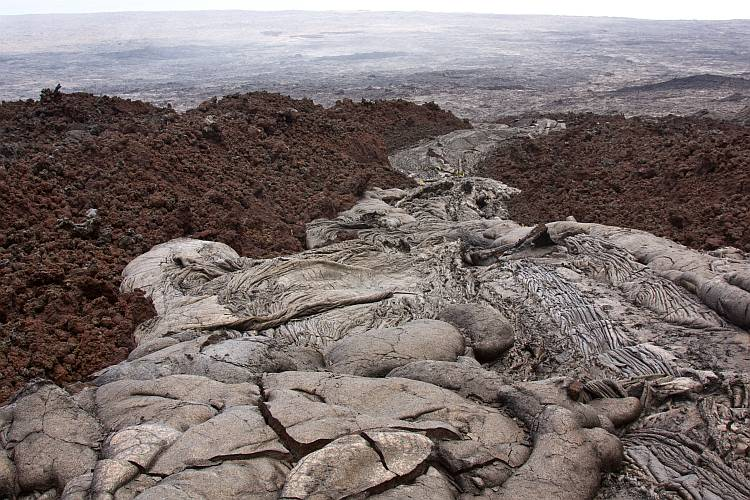 Pahoehoe and aa lava