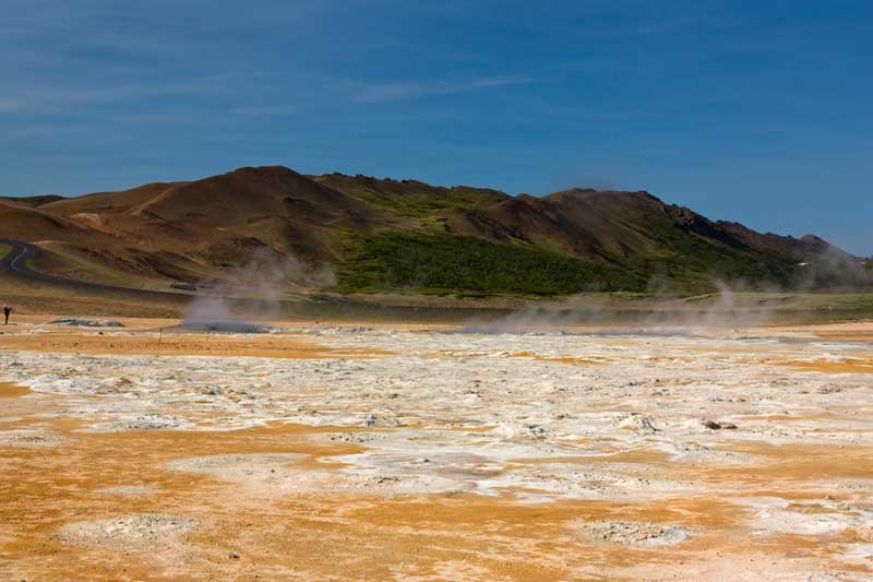 Geothermal area in Iceland near Lake Myvatn