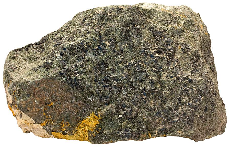 Skarn sample with ore minerals