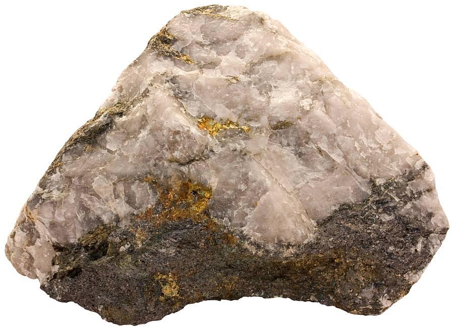 Quartz with ore minerals