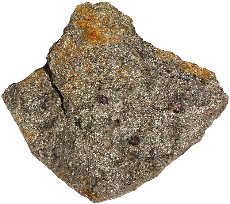 Mica schist rock sample