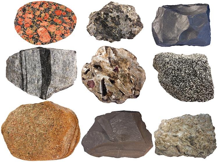 composition of the crust chemical elements minerals rocks