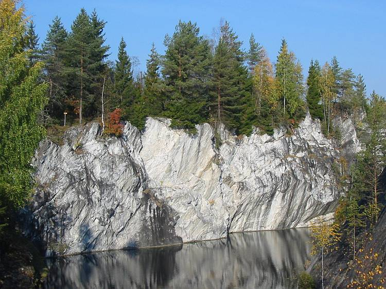 A marble outcrop from Ruskeala