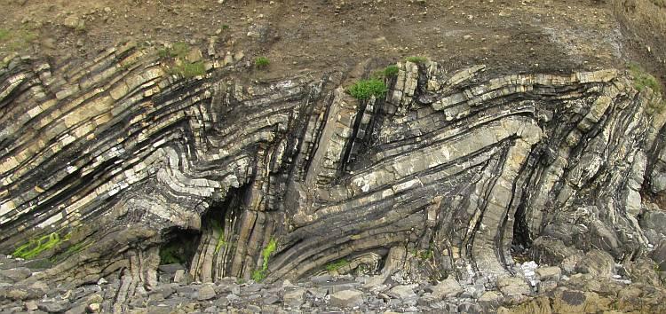 Folded shale