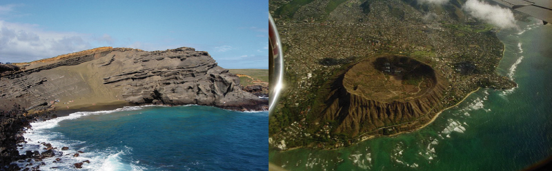 Diamond Head and  Puu Mahana