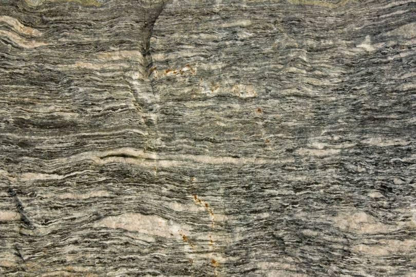 Mylonitic rock surface