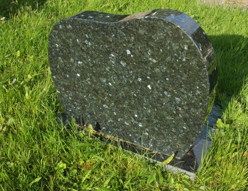 Tombstone in Norway made of larvikite