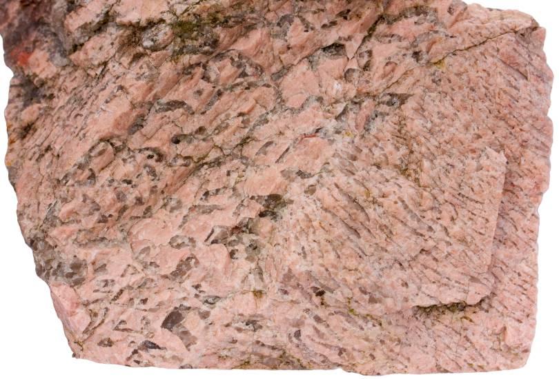 Graphic granite rock sample