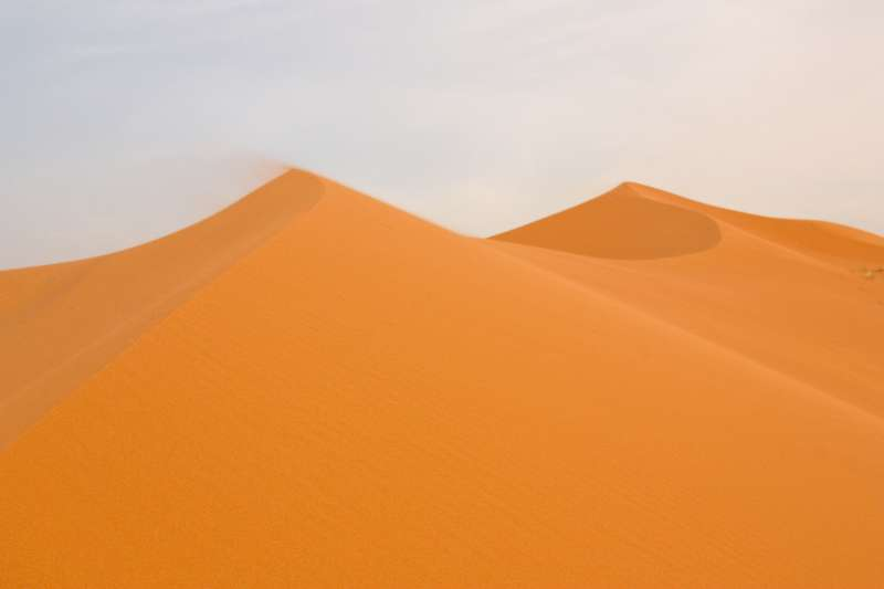 Sand dune in Moroccan Sahara