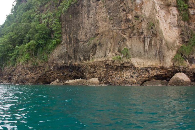 Coastal Rocks Of Saint Lucia