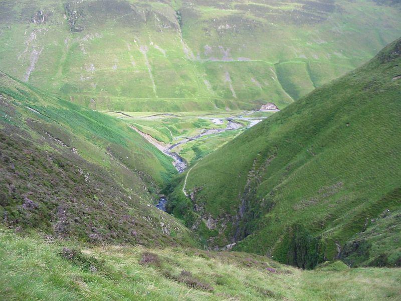 V-shaped valley