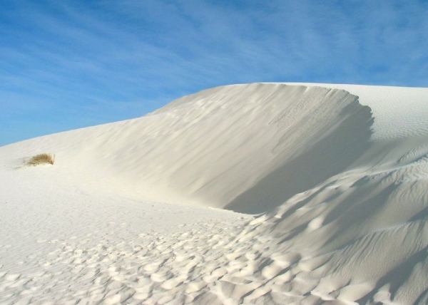 White dunes in the