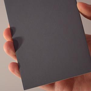 A gray card